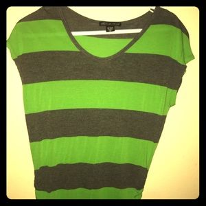Green and grey Stripped blouse